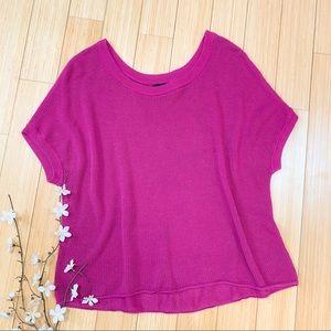 TORRID pink crewneck short sleeves day sweater, 1X